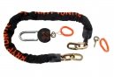KRYPTONITE Chaine MESSENGER + Cadena MOLY Noir Orange