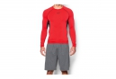 UNDER ARMOUR Maillot de Compression Manches Longues HEATGEAR ARMOUR Rouge Noir
