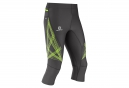 SALOMON Collant 3/4 INTENSITY Noir Vert