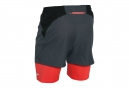 UNDER ARMOUR Short 2-in-1 LAUNCH RACER Gris Rouge