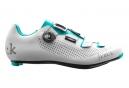 FIZIK Chaussures Route R4B Blanc Bleu Femme