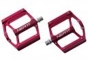Paire de Pédales NEATT Aluminium 8 picots Rouge