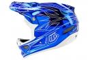 Casque intégral Troy Lee Designs D3 COMPOSITE PINSTRIPE II 2016 Bleu Chrome