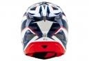 Casco Integral Troy Lee Designs D3 COMPOSITE REFLEX Blanc / Bleu