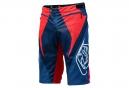 Short TROY LEE DESIGNS SPRINT Rouge Blanc Bleu