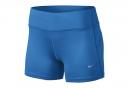 NIKE Short EPIC RUN 6.5cm Bleu Femme