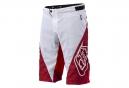 Short TROY LEE DESIGNS SPRINT Blanc Rouge