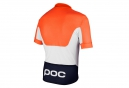 POC Short Sleeve Jersey AVIP PRINTED LIGHT Orange White