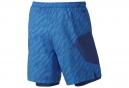 Short 2-en-1 NIKE FLEX 18cm Bleu Homme