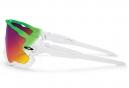 Lunettes Oakley JAWBREAKER Blanc/Vert Rouge Prizm Road