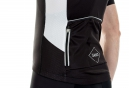 Maillot Manches Courtes ISANO GALIBIER Noir Blanc