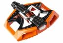 CRANKBROTHERS Paire de Pédales DOUBLE SHOT Orange Noir