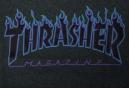 T-Shirt THRASHER FLAME LOGO Gris