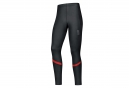 Collant Long GORE RUNNING WEAR AIR WINDSTOPPER Noir Rouge