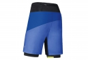Short 2-en-1 GORE RUNNING WEAR FUSION Bleu