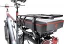 Vélo Electrique 2017 CUBE Touring Hybrid 400 Shimano Altus 9V Gris/Rouge