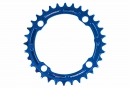 Race Face Narrow Wide Single Chainring 104mm BCD Blue