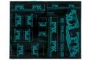 Kit Stickers FOX RACING SHOX HERITAGE 2017 Turquoise