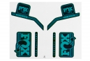 Kit Stickers FOX RACING SHOX HERITAGE 2017 Turquoise