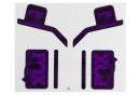 Kit Stickers FOX RACING SHOX HERITAGE 2017 Violet