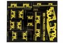 Kit Stickers FOX RACING SHOX HERITAGE 2017 Jaune