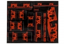 Kit Stickers FOX RACING SHOX HERITAGE 2017 Orange