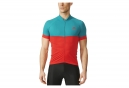 Maillot Manches Courtes adidas cycling RESPONSE TEAM Rouge Vert