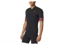 Maillot Manches Courtes adidas cycling ADISTAR CD.ZERO3 Noir Rouge