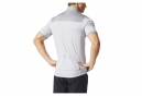 Maillot Manches Courtes adidas cycling RESPONSE PLURES Gris Blanc