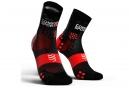 Chaussettes Compressport Pro Racing V3.0 Run Ultralight Haute Noir Rouge