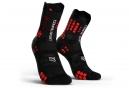 Chaussettes Compressport Pro Racing V3.0 Trail Haute Noir / Rouge