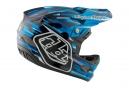 Casque Intégral Troy Lee Designs D3 Carbon Code Mips Bleu Noir 2017
