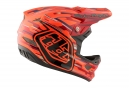 Casque intégral Troy Lee Designs D3 Composite Code Orange Rouge 2017