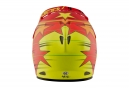 Casque Intégral Troy Lee Designs D2 Fusion Rouge Orange Jaune 2017
