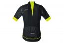 Maillot Manches Courtes Gore Bike Wear Oxygen Windstopper Noir Jaune