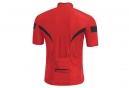 Maillot Manches Courtes Gore Bike Wear Power 3.0 Rouge Noir