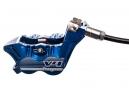 Hope Freno de disco trasero Tech 3 V4 Manguera estándar azul Sin rotor