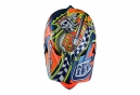 Casque intégral Troy Lee Designs D3 Composite Longshot Orange Bleu 2017