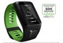 Montre GPS Tomtom RUNNER 3 CARDIO + MUSIC Bracelet Large Noir / Vert