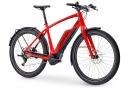 Vélo de Ville Électrique Trek Super Commuter + 8 Shimano Deore XT 11V 500 Rouge 2019
