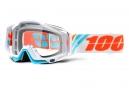 Masque 100% Racecraft Calculus Ice Blanc Ecran Transparent
