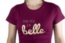 T-Shirt Femme LB Fais Toi La Belle Rouge Bordeaux
