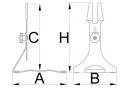 Unior Floor Stand Adjustable 29'' / 29+ / 700 mm