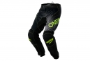 Pantalon Oneal Element Racewear Jaune Fluo Noir