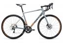 Vélo de Route Cube Attain Race Disc Shimano Tiagra 10V 2017 Gris / Orange / Fluo