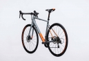 Vélo de Route Cube Attain Race Disc Shimano Tiagra 10V 2017 Gris / Orange / Fluo