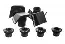 ROTOR Schrauben Kit für Shimano Ultegra 6800 Kurbelgarnitur Schwarz