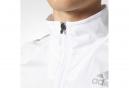 Veste Coupe-Vent Déperlant adidas running Adizero Blanc Gris