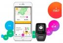 Montre GPS TOMTOM RUNNER 3 CARDIO + MUSIC Bracelet Large Noir Vert