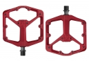 Paire de Pedales Plates CRANKBROTHERS STAMP 2 Rouge